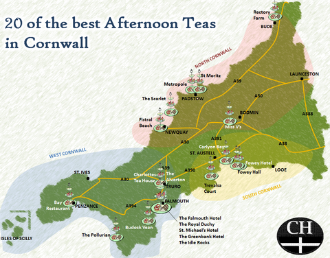 Best afternoon tea in Cornwall