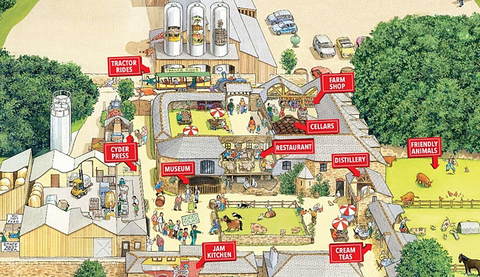 Healey Cyder Farm Map