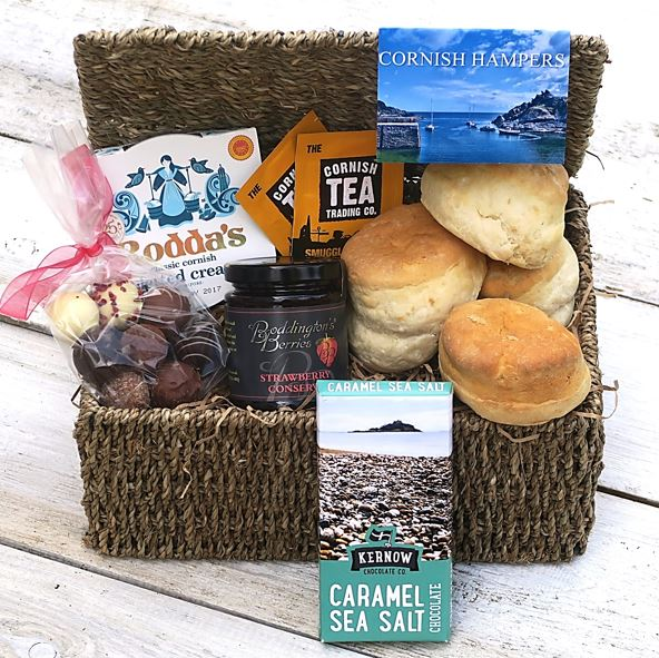 Cornish Chocolate Cream Tea Hamper