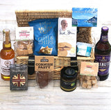 Luxury hamper containing a variety of food from Cornwall