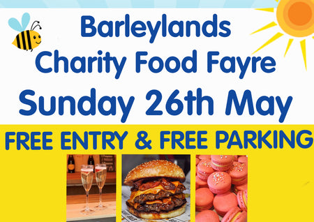 Join us at Barleylands Charity Food Fayre - Sunday 26th May!