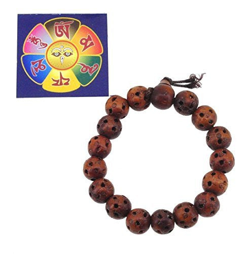 Handmade Peachwood Wrist Mala Prayer Beads