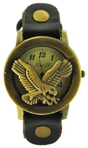Green Eagle Leather Bracelet Watch, Watch Bracelet, Ladies Watch, Stackable Watch Bracelet
