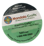 Mandala Crafts Macrame Supplies Extra Long Korean Wax Polyester Beading Craft Cord Thread