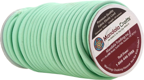 Mandala Crafts 1/8 5/32 3/16 1/4 Colored Elastic Nylon Round Bungee Shock Cord, Tactical Rope Replacement Roll for Zero Gravity Chair Repair, Kayaks, DIY