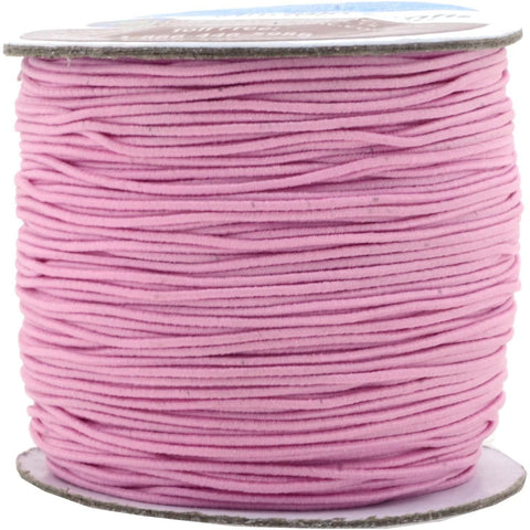Mandala Crafts 1mm Elastic Cord Stretchy String for Bracelets, Necklaces, Jewelry Making, Beading, Masks; 109 Yards