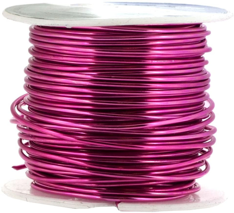 Mandala Crafts Anodized Aluminum Wire for Sculpting, Armature, Jewelry Making, Gem Metal Wrap, Garden, Colored and Soft, 1 Roll(16 Gauge, Magenta)