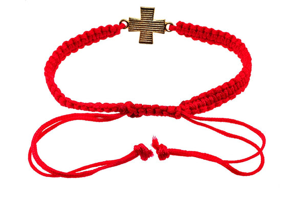 Mandala Crafts Kabbalah Amulet Lucky Knot Protection Rope Red String Bracelet