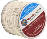 Mandala Crafts 1mm 109 Yards Round Rubber Fabric Covered Elastic Cord, Stretch String for Beading, Jewelry Making, Masks, DIY Crafting