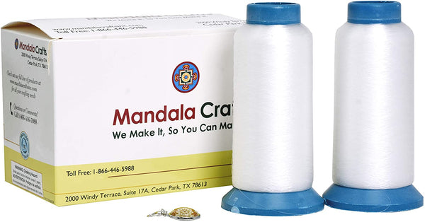 Mandala Crafts Invisible Clear Sewing Thread from Nylon for Quilting, Dress, Sequin