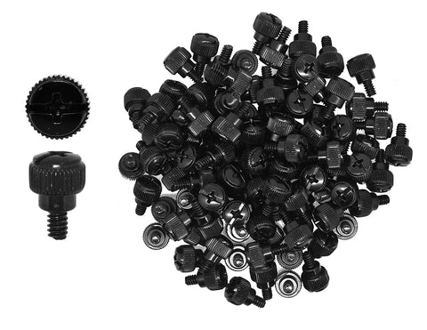 Mudra Crafts Desktop PC Computer Building Case 6-32 Repair Mounting Thumb Screw Assortment Kit, 100 PCs
