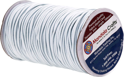 Mandala Crafts Elastic Cord Stretchy String for Bracelets, Necklaces, Jewelry Making, Beading, Masks