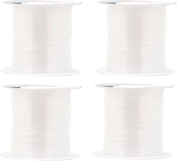 Mandala Crafts Clear Invisible Thread, Nylon Monofilament Line for Quilting, Sewing, Hanging, Seed Beading, Hair Weaving