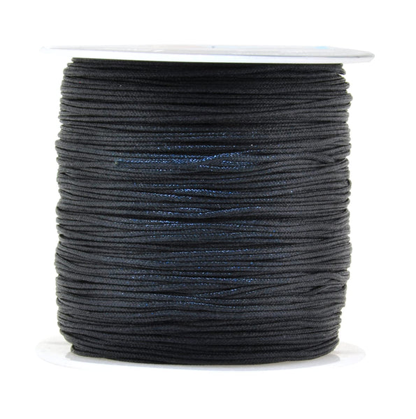 Mandala Crafts 0.8mm 100M Satin Nylon Chinese Knot Rattail Macramé Beading Knotting Sewing Cord
