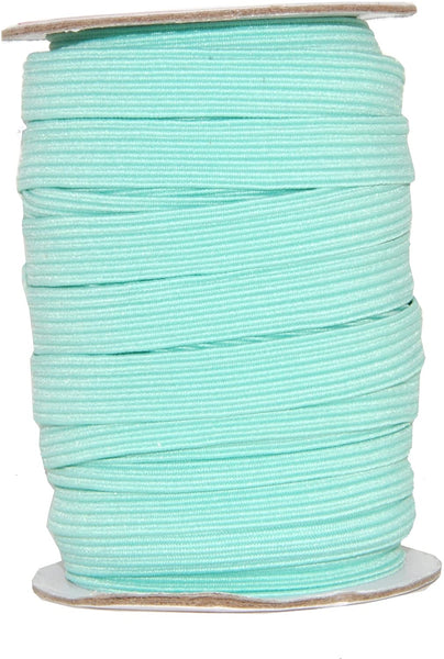 Mandala Crafts Colored Polyester Rubber Braided Flat Elastic Stretch Band Cord Spool Roll for Sewing Clothes Waistbands