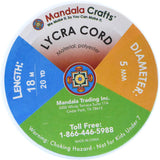 Mandala Crafts Soft Elastic Cord from Spandex Nylon Fabric for Jewelry Making, Sewing, and Crafting