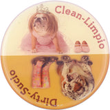 Mandala Crafts English Spanish Clean Dirty Bulldog Dishwasher Indicator Magnet