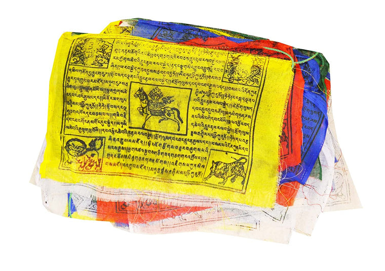 Mandala Crafts® Tibetan Lungta Large Prayer Flags, 25 Flags, 11 X 6.5 Inches
