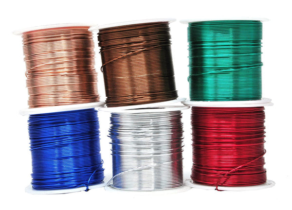 Mandala Crafts 12 14 16 18 20 22 Gauge Anodized Jewelry Making Beading Floral Colored Aluminum Craft Wire Wholesale Combo