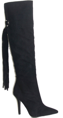Knee High Boot w/ Fringe Detail