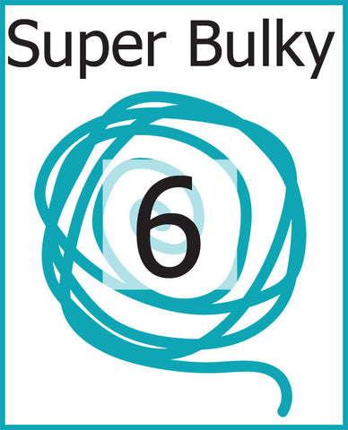 #6 Super Bulky Weight Yarn (Super Bulky, Roving)