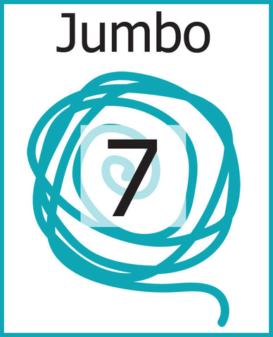 #7 Jumbo Weight Yarn (Jumbo, Roving)