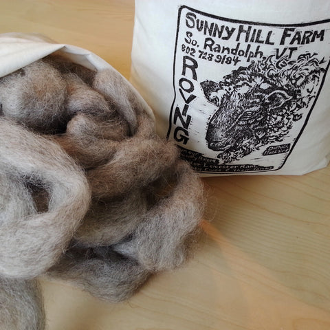 Sunny Hill Farm Pin-Drafted Natural Roving