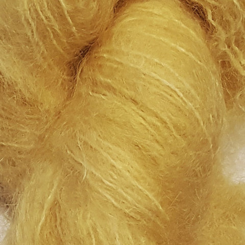 Yellow Dog Farm Hand Dyed Brushed Mohair Yarn