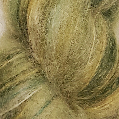 Yellow Dog Farm Hand Painted Brushed Mohair Yarn