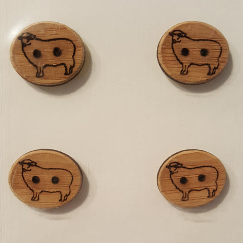 Katrinkles Bamboo Buttons 3/4 Inch