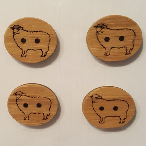 Katrinkles Bamboo Buttons 1 Inch