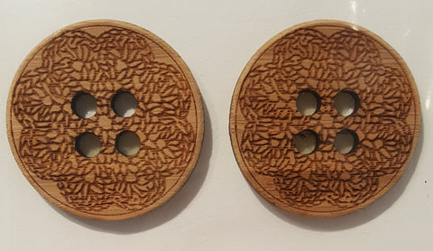 Katrinkles Bamboo Buttons 1.5 Inch