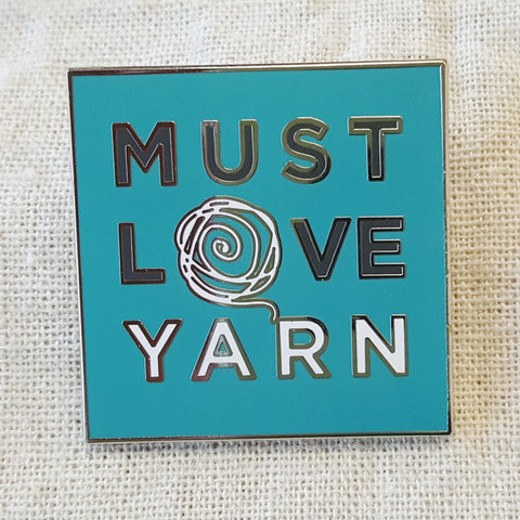 Must Love Yarn Enamel Pins
