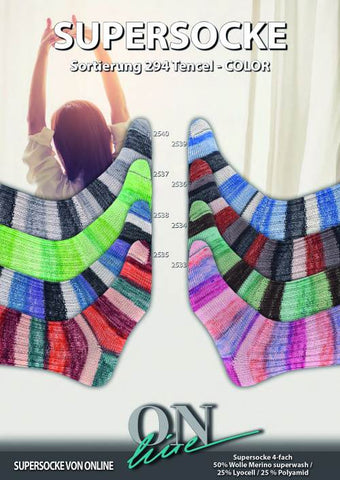 OnLine Supersocke 294 Tencel Color