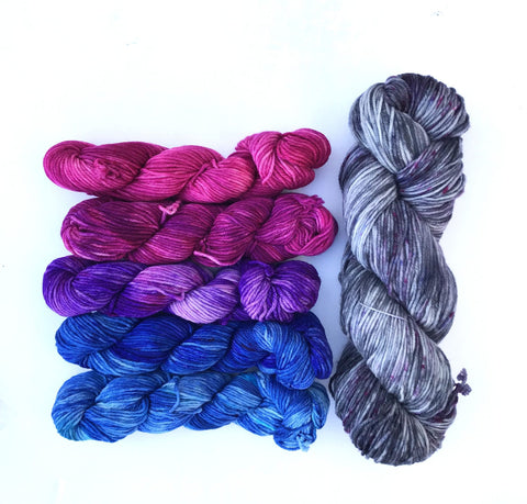 Wonderland Yarns Fade Combo Shawl Kit