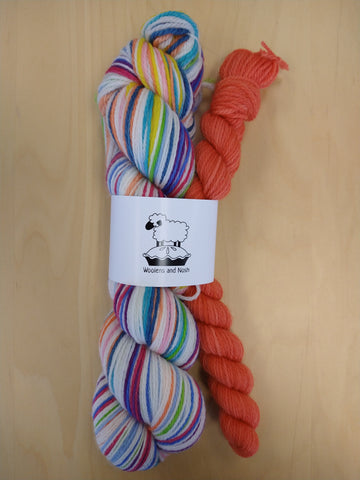 Woolens and Nosh Merino Self Striping Sock Kits