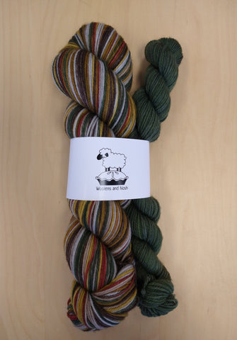 Woolens and Nosh Targhee Self Striping Sock Kits