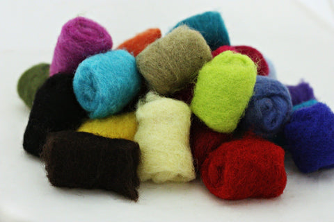 Frabjous Fibers Gumball Pack Felting Fibers