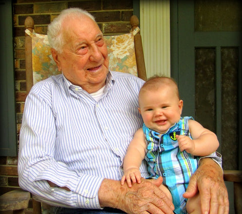 Granddaddy with great great grandson