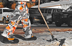 FlexTIP-TLC on snow walking cane avoiding slips on ice