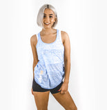 EMP19 Racer Back Tank Top (Blue Marble)