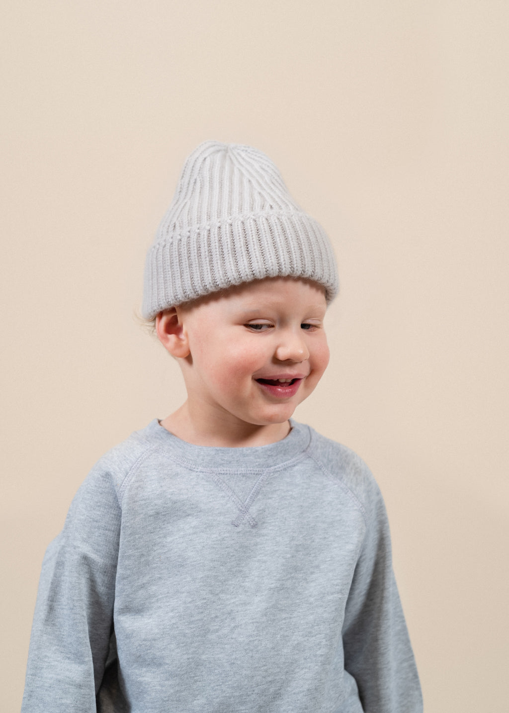 Y-0006 Kids Beanie - Light Beige
