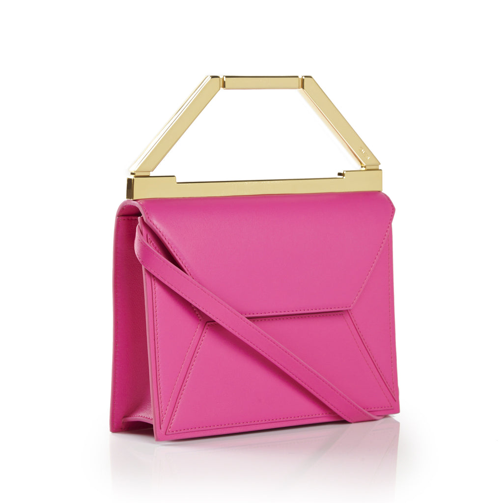 THE EVA BAG <br/> BRIGHT PINK & GOLD