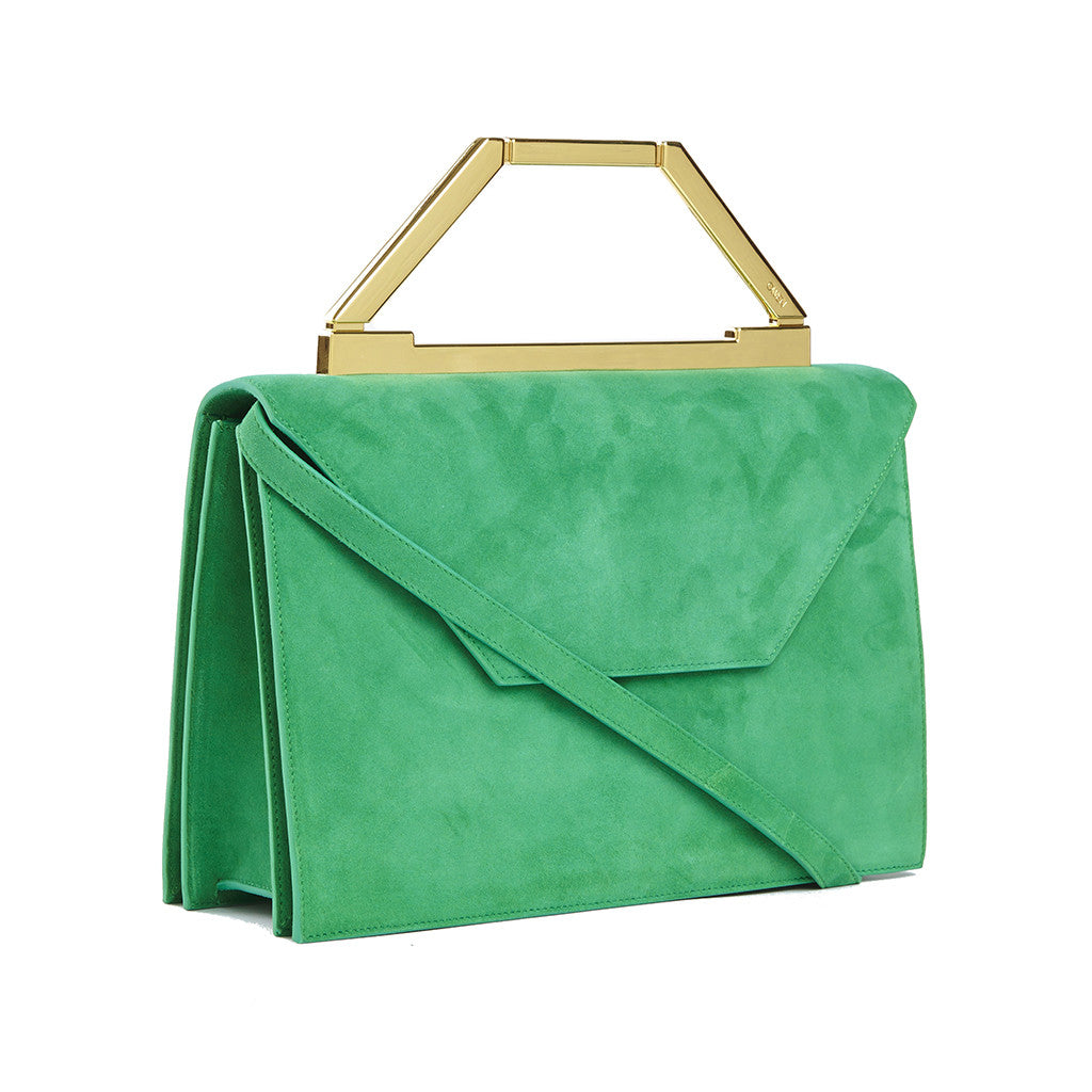 THE EMMA <br/> EMERALD SUEDE & GOLD
