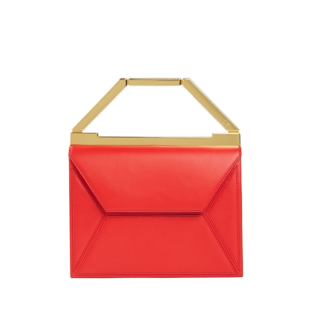 THE EVA BAG <br/> LIPSTICK RED & GOLD