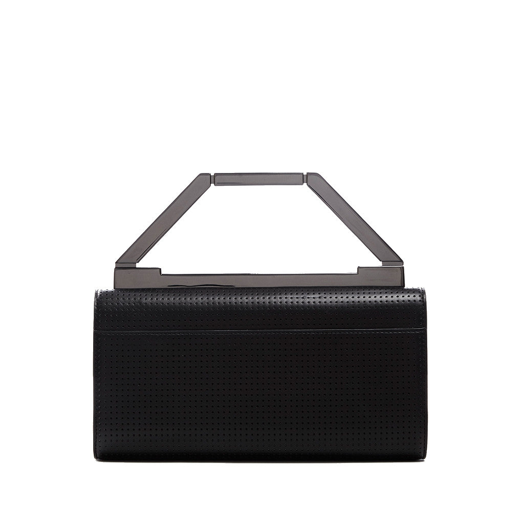 THE NOELLE BAG  <br/>  BLACK PERFORATED & GUN