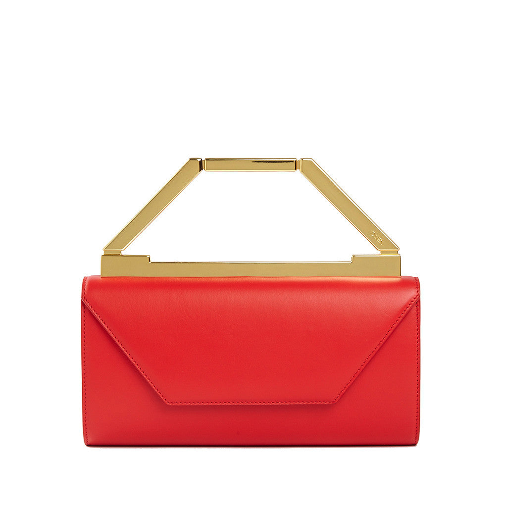 THE NOELLE BAG  <br/>  LIPSTICK RED & GOLD