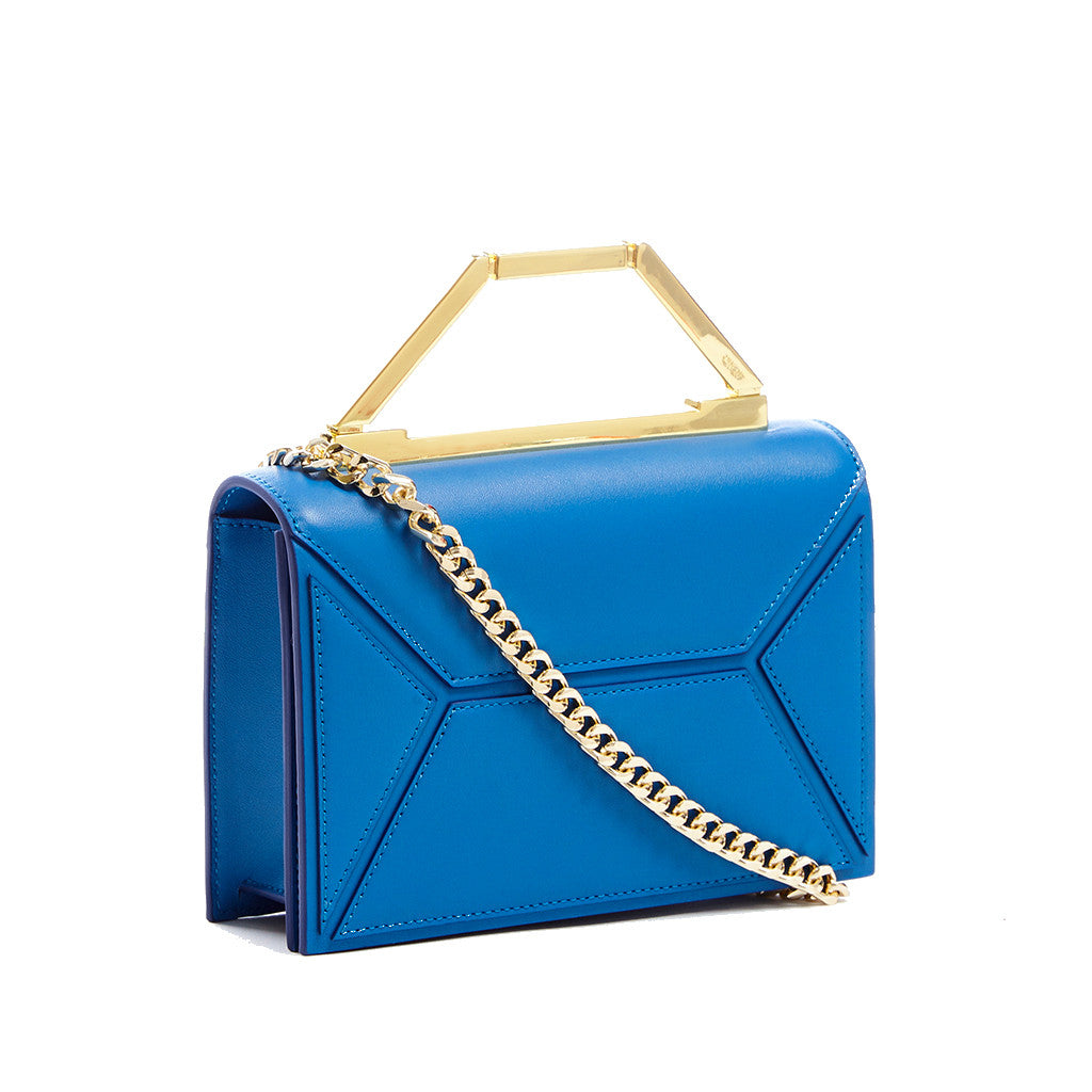THE MINI AVA <br/> BRIGHT BLUE & GOLD