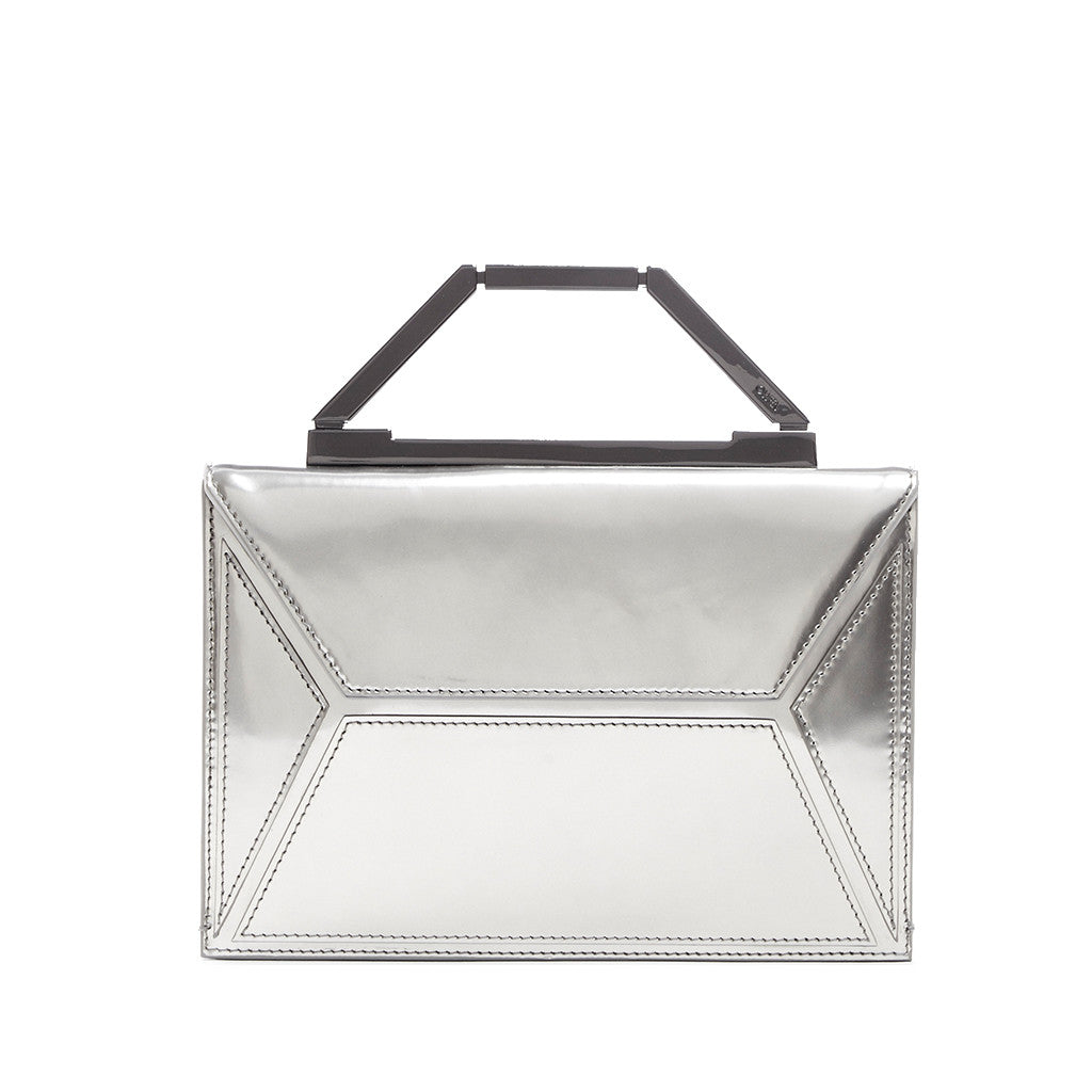 THE JENNIFER CLUTCH <br/> METALLIC SILVER & GUNMETAL