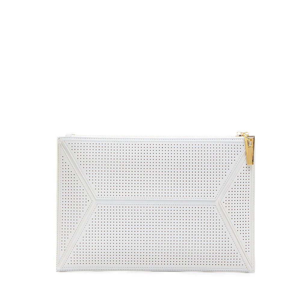 THE OWEN POUCH  <br/> WHITE PERFORATED
